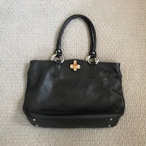 Claudia Firenze Black Leather Satchel